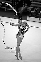 Mariana Romao of Portugal performs with ribbon at 2007 Coupe d' Opale tournament in Calais, France on March 31, 2007.