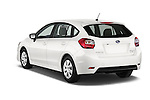 Car pictures of rear three quarter view of a 2015 Subaru Impreza 2.0I Auto 4 Door Hatchback Angular Rear