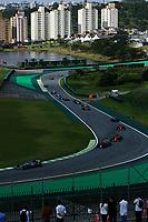 17th November 2019; Autodromo Jose Carlos Pace, Sao Paulo, Brazil; Formula One Brazil Grand Prix, Race Day; Lewis Hamilton (GBR) Mercedes AMG F1 W10, Alexander Albon (THA) Scuderia Toro Rosso STR14 e Sebastian Vettel (GER) Scuderia Ferrari SF90 - Editorial Use