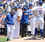 Daisuke Matsuzaka, Terry Collins (Mets),<br /> JUNE 15, 2014 - MLB : Daisuke Matsuzaka of the New York Mets  during the first inning of a Major League Baseball game against the San Diego Padres at Citi Field in Flushing, New York, USA.<br /> (Photo by AFLO)