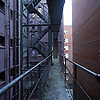 Stairwells on Apartment Building Exterior