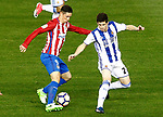 Atletico de Madrid's Fernando Torres (l) and Real Sociedad's Igor Zubeldia during La Liga match. April 4,2017. (ALTERPHOTOS/Acero)