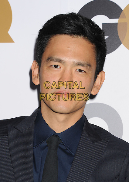 John Cho.Arriving at the GQ Men Of The Year Party at Chateau Marmont Hotel in Los Angeles, California, USA..November 13th, 2012.headshot portrait black blue tie suit shirt.CAP/ROT/TM.©Tony Michaels/Roth Stock/Capital Pictures