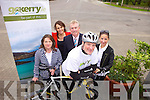 Cyclist David Elton will be cycling to the Ploughing Championships next week to promote many small businesses as part of the Go Kerry campaign. Pictured were: Caroline Boland, Sandra Leahy, Kieran Ruttledge, David Elton and Margaret O'Regan.