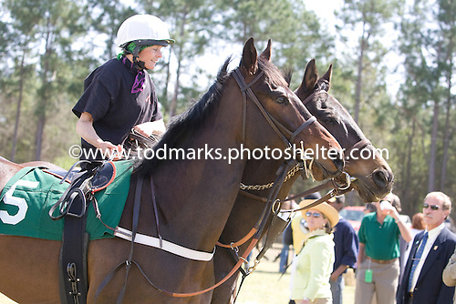Janet Elliot and Flat Top (5) pony Rusty Reign at Aiken Spring Races, 2009.