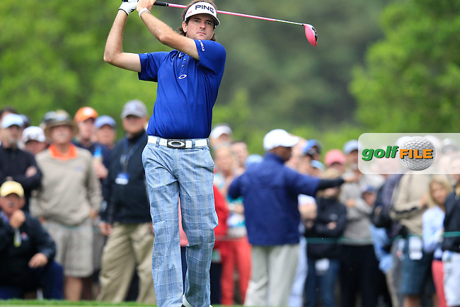 Bubba Watson (USA) tees off the 4th tee during Thursday's Round 1 of the 2013 Wells Fargo Championship at Quail Hollow Club, Charlotte, North Carolina, 2nd May 2013..Picture: Eoin Clarke www.golffile.ie.
