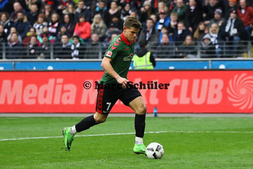 Florian Niederlechner (SC Freiburg) - 05.03.2017: Eintracht Frankfurt vs. SC Freiburg, Commerzbank Arena