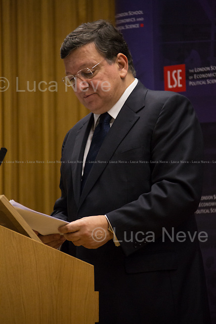 Jos&eacute; Manuel Barroso.<br /> <br /> London, 14/02/2014. Today, LSE (London School of Economics) presented a public lecture called &quot;Reforming Europe in a Changing World&quot; hosted by Jos&eacute; Manuel Barroso (11th and current President of the European Commission, position held since 2004; former Prime Minister of Portugal, 2002-2004; member of the left Portuguese party: Social Democratic Party). Chair of the event was Professor Maurice Fraser (Senior Fellow in European Politics, Director Agora Projects - publishing. Senior Counsellor, APCO Worldwide. Special Adviser to UK Foreign Secretaries Douglas Hurd, John Major and Sir Geoffrey Howe, 1989 - 1995).