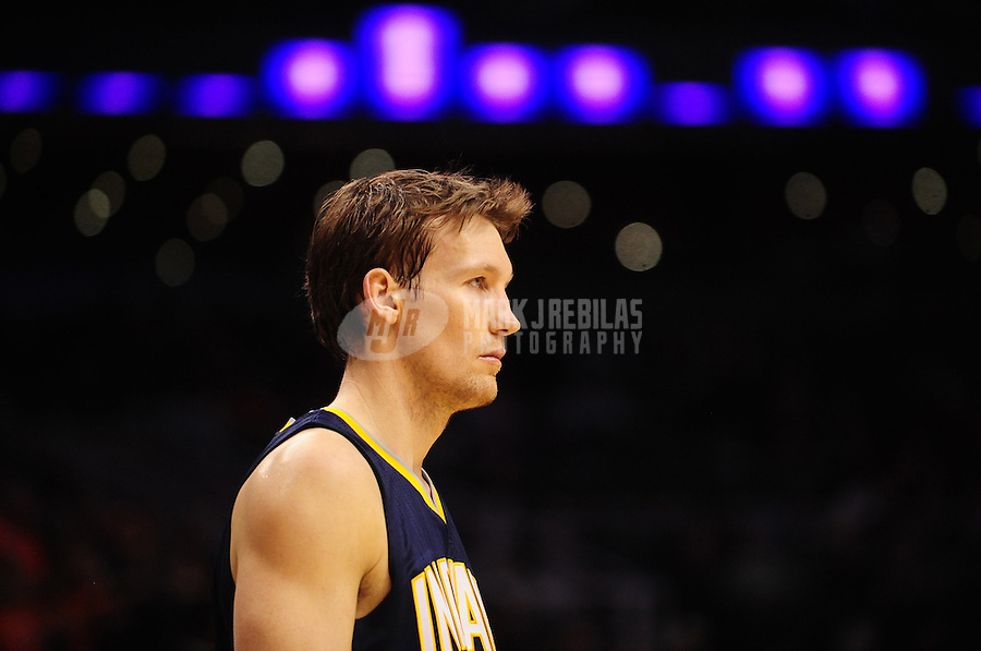 Dec. 3, 2010; Phoenix, AZ, USA; Indiana Pacers forward (17) Mike Dunleavy against the Phoenix Suns at the US Airways Center. Mandatory Credit: Mark J. Rebilas-