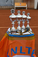 August 6, 2014, Netherlands, Rotterdam, TV Victoria, Tennis, National Junior Championships, NJK,  Wheelchair, Trophy table<br /> Photo: Tennisimages/Henk Koster