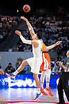 Real Madrid's player Gustavo Ayon and Valencia Basket's Hamilton during the first match of the Semi Finals of Liga Endesa Playoff at Barclaycard Center in Madrid. June 02. 2016. (ALTERPHOTOS/Borja B.Hojas)