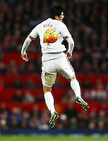 Ki Sung-Yueng of Swansea City during the Barclays Premier League match between Manchester United and Swansea City played at Old Trafford, Manchester on January 2nd 2016