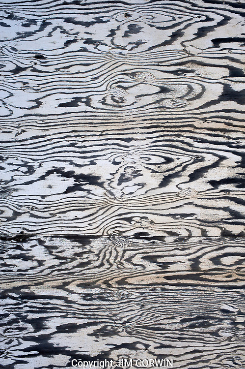 Abstract Painting Effect Wood Siding