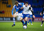 St Johnstone v Inverness Caley Thistle..29.12.12      SPL.Murray Davidson and Ross Draper.Picture by Graeme Hart..Copyright Perthshire Picture Agency.Tel: 01738 623350  Mobile: 07990 594431