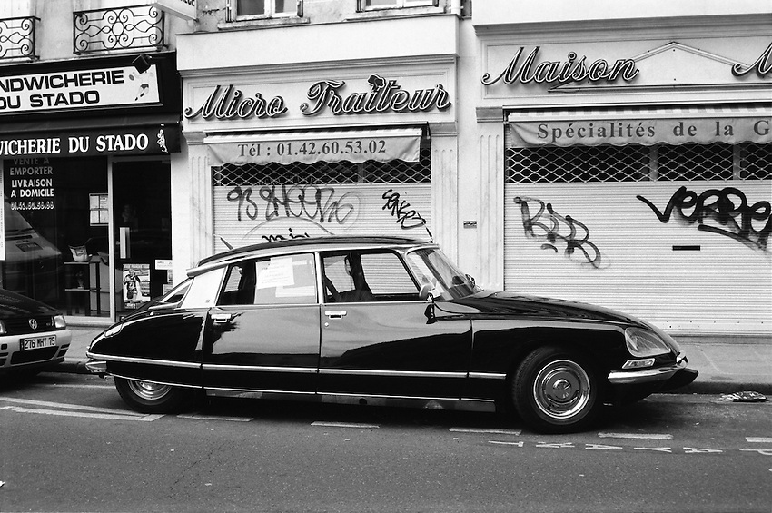 A beautiful, mint condition D-Series Citroen on  .rue Saint Honoré, Paris, France