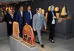 Egyptian President Abdel Fattah al- Sisi visits Alexandria Library, in Alexandria , Egypt, on July 25, 2017. Photo by Egyptian President Office
