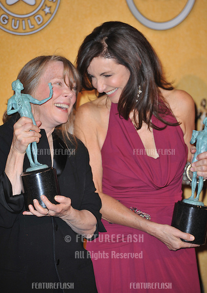 Sissy Spacek (left) & Mary Steenburgen at the 17th Annual Screen Actors Guild Awards at the Shrine Auditorium, Los Angeles..January 29, 2012  Los Angeles, CA.Picture: Paul Smith / Featureflash