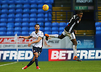 Bolton Wanderers'  Filipe Morais  wins the ball from Ryan Sessegnon  <br /> <br /> Photographer Leila Coker/CameraSport<br /> <br /> The EFL Sky Bet Championship - Bolton Wanderers v Fulham - Saturday 10th February 2018 - Macron Stadium - Bolton<br /> <br /> World Copyright &copy; 2018 CameraSport. All rights reserved. 43 Linden Ave. Countesthorpe. Leicester. England. LE8 5PG - Tel: +44 (0) 116 277 4147 - admin@camerasport.com - www.camerasport.com