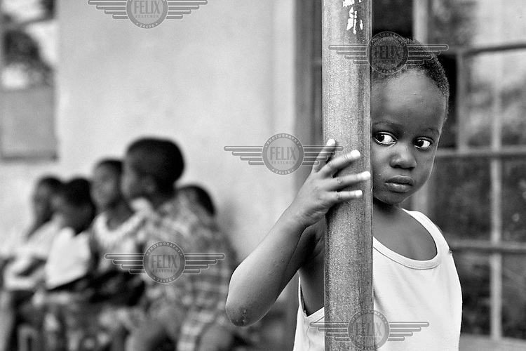 Some of the lucky few children to live in an orphanage in Kampala, Uganda on April 22, 2001. More than 13 million African children who have been orphaned by the the AIDS pandemic. Worldwide, more than 20 million people have died since the first cases of AIDS were identified in 1981.