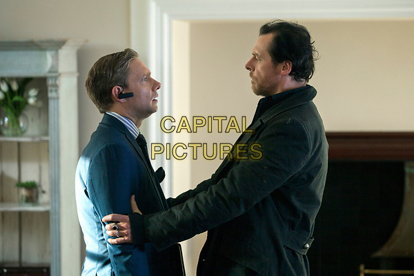 The World's End (2013) <br /> Simon Pegg &amp; Martin Freeman<br /> *Filmstill - Editorial Use Only*<br /> CAP/KFS<br /> Image supplied by Capital Pictures