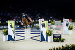Emanuele Gaudiano of Italy riding Jamar d'Ysenbeeck Z competes in the Maserati Masters Power during the Longines Masters of Hong Kong at AsiaWorld-Expo on 10 February 2018, in Hong Kong, Hong Kong. Photo by Ian Walton / Power Sport Images