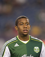 Portland Timbers midfielder Jeremy Hall (17). In a Major League Soccer (MLS) match, the New England Revolution tied the Portland Timbers, 1-1, at Gillette Stadium on April 2, 2011.