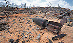 An unexploded mortar lies on the ground amidst other ordnance in Misrata, Libya, where fighting between rebels and troops loyal to Libyan leader Moammar Gadhafi has raged for months.