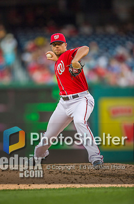 19 September 2015: Washington Nationals pitcher Blake Treinen on the mound against the Miami Marlins at Nationals Park in Washington, DC. The Nationals defeated the Marlins 5-2 in the third game of their 4-game series. Mandatory Credit: Ed Wolfstein Photo *** RAW (NEF) Image File Available ***