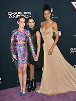 "LOS ANGELES, USA. November 12, 2019: Kristen Stewart, Naomi Scott & Ella Balinska at the world premiere of ""Charlie's Angels"" at the Regency Village Theatre.<br /> Picture: Paul Smith/Featureflash"