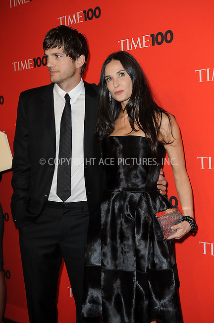 WWW.ACEPIXS.COM . . . . . ....May 4 2010, New York City....Ashton Kutcher and Demi Moore arriving at Time's 100 most influential people in the world gala at Frederick P. Rose Hall, Jazz at Lincoln Center on May 4, 2010 in New York City.....Please byline: KRISTIN CALLAHAN - ACEPIXS.COM.. . . . . . ..Ace Pictures, Inc:  ..(212) 243-8787 or (646) 679 0430..e-mail: picturedesk@acepixs.com..web: http://www.acepixs.com