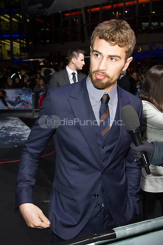 Theo James attending the Insurgent premiere, held at CineStar, Sony Center, Berlin, Germany, 13.03.2015. <br /> Photo by Christopher Tamcke/insight media /MediaPunch ***FOR USA ONLY***
