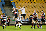 Siale Piutau & Sam Giddens compete for the ball.  Air New Zealand Cup rugby game between Counties Manukau Steelers & Hawkes Bay, played at Mt Smart Stadium on the 23rd of August 2007. Hawkes Bay won 38 - 14.