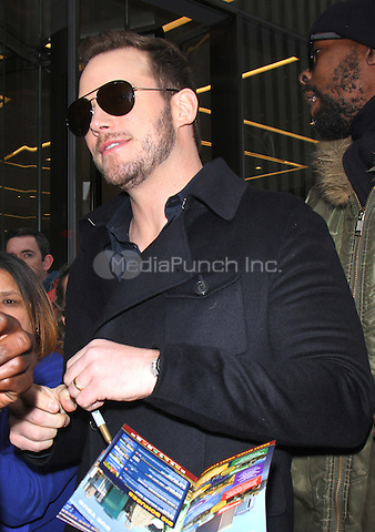NEW YORK, NY - DECEMBER 6: Chris Pratt seen at SiriusXM Studios in New York City on December 6, 2016. Credit: RW/MediaPunch