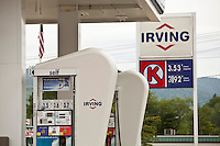 An Irving gas station is pictured in New Hampshire Thursday June 13, 2013. Irving Oil is a gasoline, oil, and natural gas producing and exporting company.