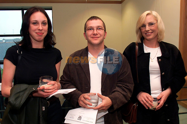 Beatrice O'Connell, Dublin, Anthony and Lorraine Collins, Drogheda pictured at Cara Cummins' Art Exhibition held in the Meath County Council buildings in Duleek ..Picture:Arthur Carron