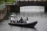 © Joel Goodman - 07973 332324 . 26/09/2016 . Liverpool , UK . Police boat on the docks outside the conference . The second day of the Labour Party Conference at the ACC Liverpool . Photo credit : Joel Goodman