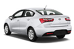 Car pictures of rear three quarter view of a 2015 KIA Rio LX AT 4 Door Sedan 2WD Angular Rear