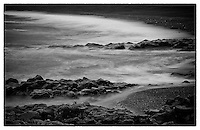 An incoming tide along Iceland's wild coastline.