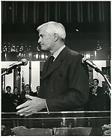 John Turner, 11 avril 1984<br /> <br /> PHOTO : agence quebec presse