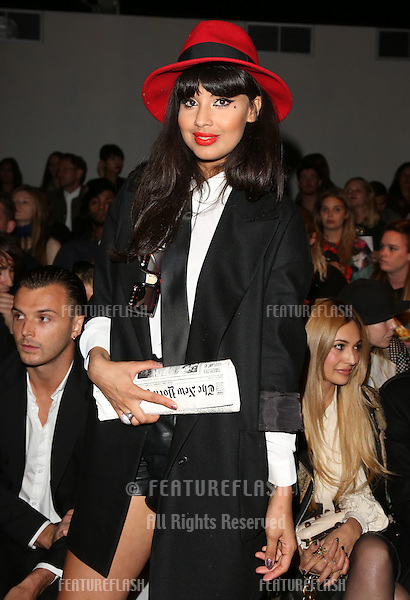 Jameela Jamil at the Felder Felder catwalk show as part of London Fashion Week SS13, Somerset House, London.14/09/2012 Picture by: Henry Harris / Featureflash