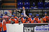 IJSHOCKEY: HEERENVEEN: Thialf, IIHF Ice Hockey U18 World Championship, 03-04-12, Nederland - Kroatie, Hoofdcoach Robb Serviss, Sebastiaan Snijder (#15), Jordy Knoren (#8), Raymond van der Schuit (#18), Jesse Hendriks (#23), Davey Menting (#12), ©foto Martin de Jong