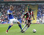 Clayton Donaldson of Sheffield Utd during the championship match at St Andrews Stadium, Birmingham. Picture date 21st April 2018. Picture credit should read: Simon Bellis/Sportimage