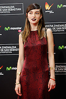 Maria Valverde poses for photographers before the red carpet of Closing Ceremony of the 62st San Sebastian Film Festival in San Sebastian, Spain. September 27, 2014. (ALTERPHOTOS/Caro Marin) /NortePHOTO.com /nortephoto.com