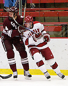 Corbin McPherson (Colgate - 4), David Valek (Harvard - 22) - The Harvard University Crimson defeated the visiting Colgate University Raiders 6-2 (2 EN) on Friday, January 28, 2011, at Bright Hockey Center in Cambridge, Massachusetts.