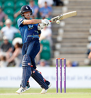 Joe Denly hits a four for Kent during the Royal London One Day Cup game between Kent and Gloucestershire at the County Ground, Beckenham, on June 3, 2018