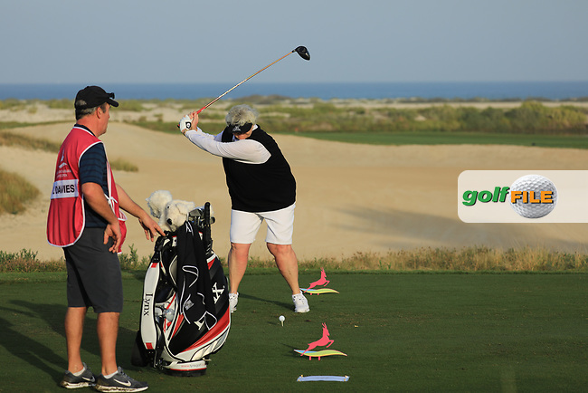 Laura Davies (ENG) during the first round of the Fatima Bint Mubarak Ladies Open played at Saadiyat Beach Golf Club, Abu Dhabi, UAE. 10/01/2019<br /> Picture: Golffile | Phil Inglis<br /> <br /> All photo usage must carry mandatory copyright credit (&copy; Golffile | Phil Inglis)