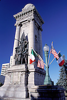Syracuse, New York, NY, War Memorial at City Park in downtown Syracuse.