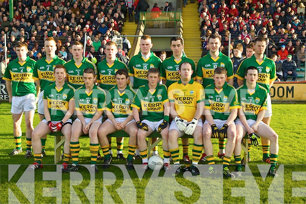 Kerry in action against  Cork in the U-21 football Munster final at Austin Stack Park on Wednesday evening.