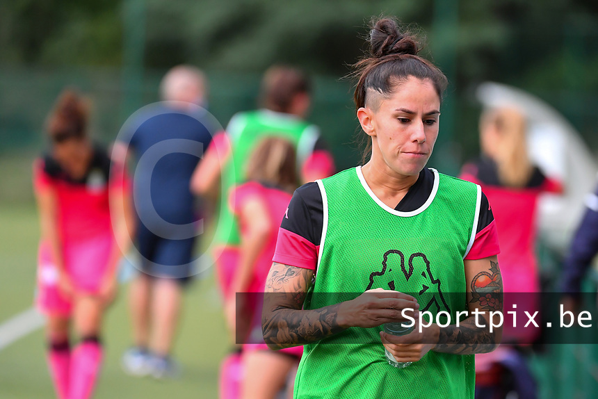 Charleroi's forward Ylenia Carabott (7) pictured during a female soccer game between KRC Genk Ladies and Sporting Charleroi  on the first matchday of the 2020 - 2021 season of Belgian Women's SuperLeague , friday 28 of August 2020  in Genk , Belgium . PHOTO SPORTPIX.BE | SPP | STIJN AUDOOREN