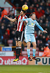 Chris Basham of Sheffield Utd and Aidan McGeady of Sunderland during the Championship match at Bramall Lane Stadium, Sheffield. Picture date 26th December 2017. Picture credit should read: Simon Bellis/Sportimage